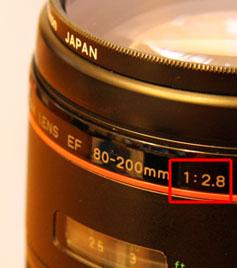 F値はカメラやレンズのどこに書いてあるの?